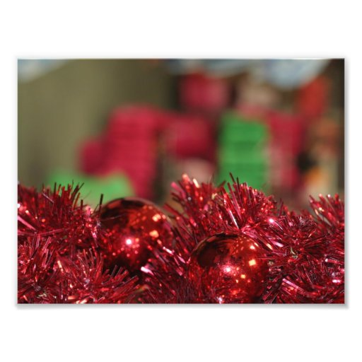 Red Ornaments Photo Print