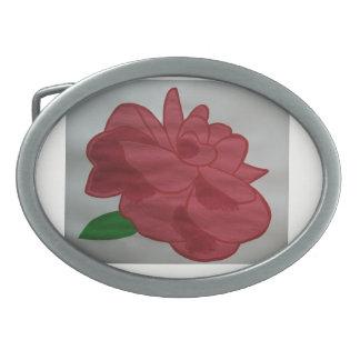 Red Oval Belt Buckle