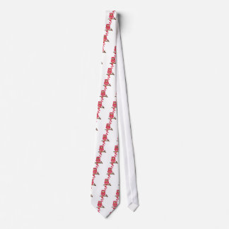 Red owl hearts tie