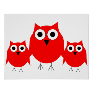 Red Owl Print