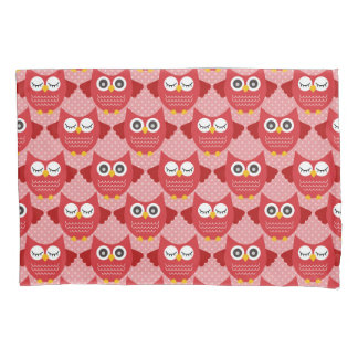 Red Owls Pillowcase