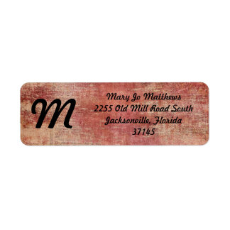 Red Paint on Vintage Newspaper Return Address Label