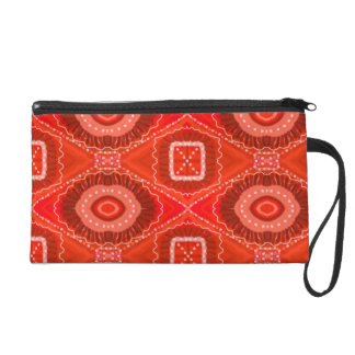 Red Painted Gypsy Medallion - Quaraun CosPlay Wristlet
