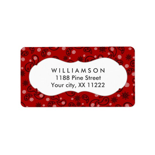 red paisley bandana cowboy western favour