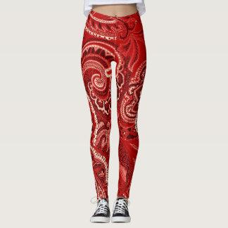 Red Paisley Bandanna Unique Retro Pants Custom