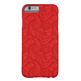 Red Paisley Barely There iPhone 6 Case