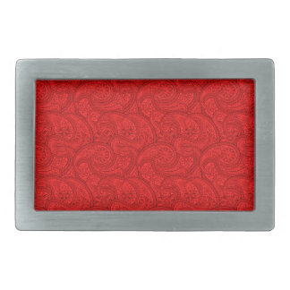 Red Paisley Belt Buckle