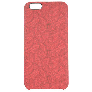 Red Paisley Clear iPhone 6 Plus Case