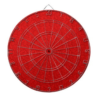 Red Paisley Dartboard