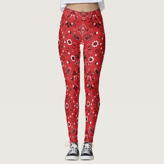 Red Paisley Leggings