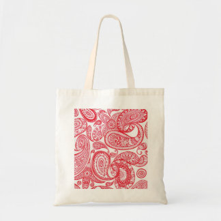 Red Paisley Tote