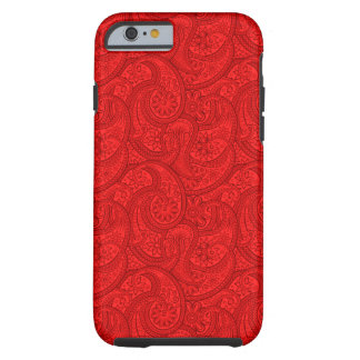 Red Paisley Tough iPhone 6 Case