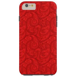Red Paisley Tough iPhone 6 Plus Case