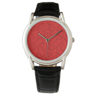Red Paisley Watch