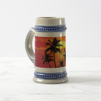 Red Palm Beer Stein