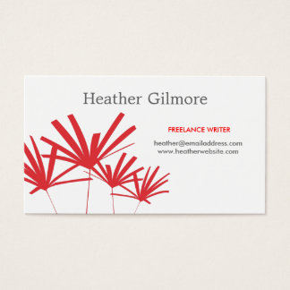 RED PALMS No. 2 Business Card