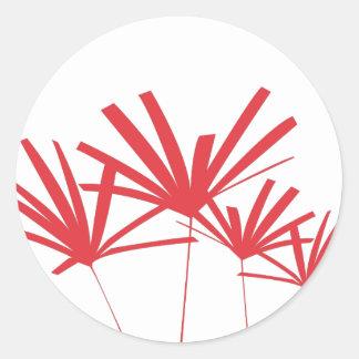RED PALMS Sticker