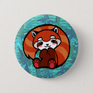 Red Panda 2 Inch Round Button