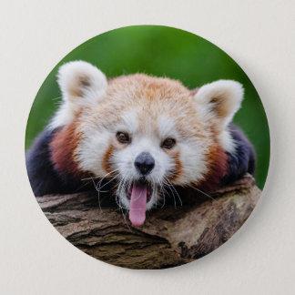 Red Panda 4 Inch Round Button