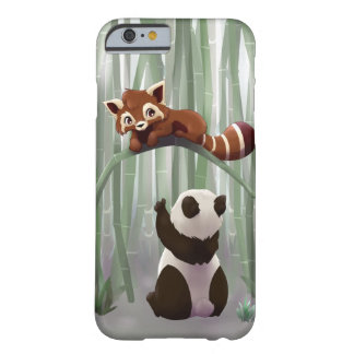 Red panda and panda bear cub barely there iPhone 6 case