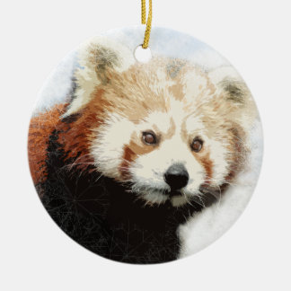 Red panda bear Christmas ornament