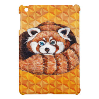 Red Panda Bear On Orange Cubism Case For The iPad Mini