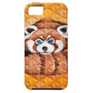Red Panda Bear On Orange Cubism iPhone 5 Cases
