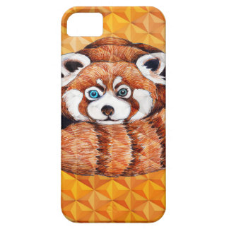 Red Panda Bear On Orange Cubism iPhone 5 Covers