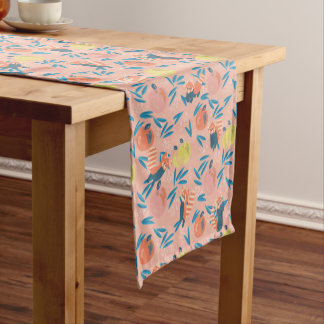 'Red Panda' Coral Pink Apple Table Runner