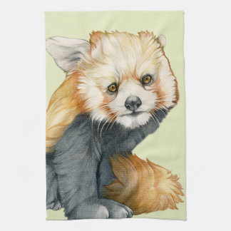 Red Panda Cub Kitchen Towel