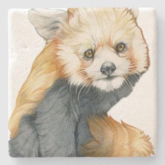 Red Panda Cub Stone Coaster