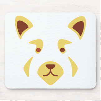 Red Panda Face Mouse Pad