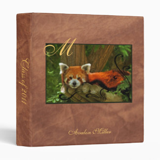Red Panda Faux Leather Back To School Binder