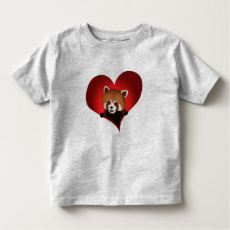 Red panda heart for kids toddler t-shirt