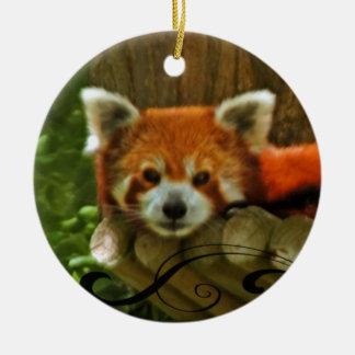 Red Panda Holiday Christmas Ornament