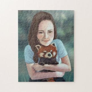 Red Panda Hug Jigsaw Puzzle