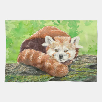 Red panda kitchen towel