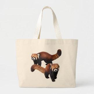 Red Panda Large Tote Bag