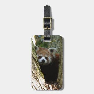 Red panda luggage tag