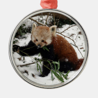 Red Panda Metal Ornament