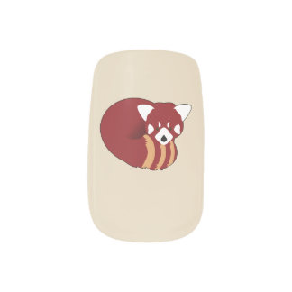 Red Panda Minx Nail Art