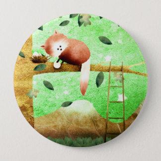 Red panda mountain - button badge