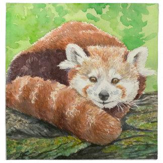 Red panda napkin