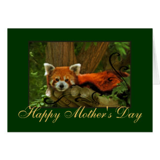 Red Panda Nature Mothers Day Greeting Card