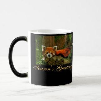 Red Panda Nature Seasons Greetings Monogram Mug