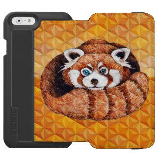 Red panda on orange Cubism Geomeric Incipio Watson™ iPhone 6 Wallet Case