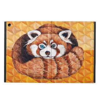 Red panda on orange Cubism Geomeric iPad Air Case