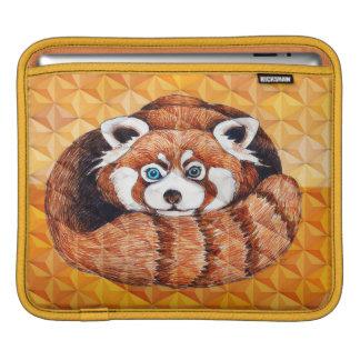 Red panda on orange Cubism Geomeric iPad Sleeve