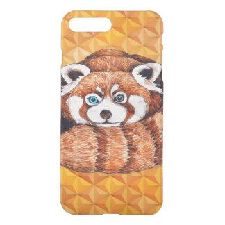 Red panda on orange Cubism Geomeric iPhone 8 Plus/7 Plus Case
