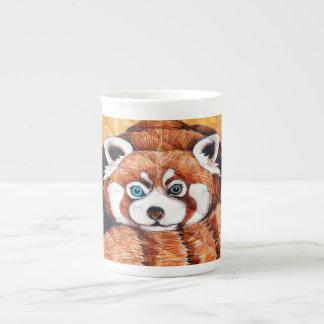 Red panda on orange Cubism Geomeric Tea Cup